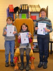 Die Gewinner des Vorlesewettbewerbs 2013 an der Johannes-Vatter-Schule