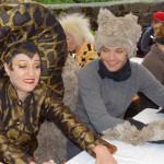 Die Schlange Kaa und ein Wolf
