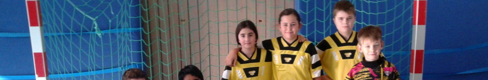 Die Siegermannschaft der Johannes-Vatter-Schule beim Fußballturnier