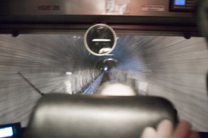 Wir fahren durch den Tunnel nach Brandoberndorf.