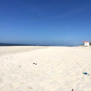Da waren wir am Strand und haben es genossen.