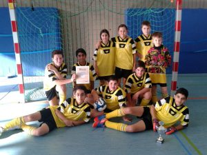 Die Siegermannschaft der Johannes-Vatter-Schule beim Fußballturnier der Förderschulen