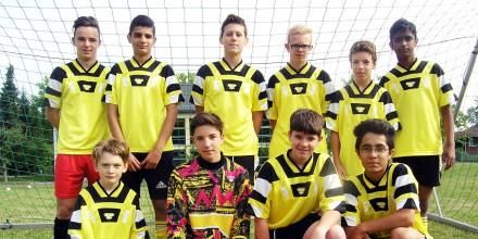 Die Fußballmannschaft der Johannes-Vatter-Schule belegte den 2. Platz.