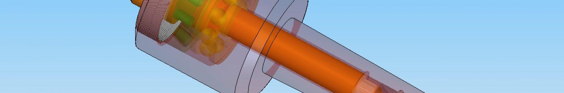 Beispiel einer Baugruppe: mitlaufende Körnerspitze (3D-Volumenkörper)