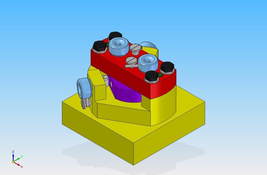 Spannvorrichtung zum Bohren eines Formteils (Version 1)
