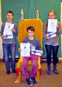 Die Sieger des Vorlesewettbewerbs der Johannes-Vatter-Schule