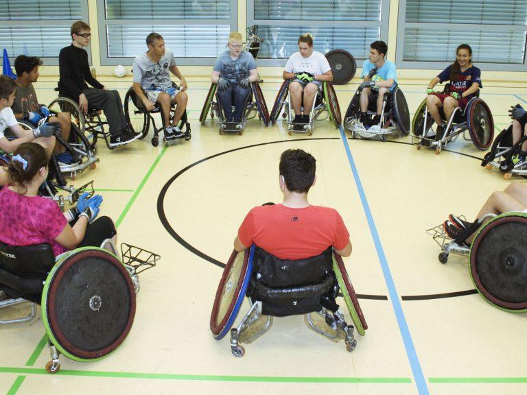 Christan erzählt uns etwas über Rollstuhl-Rugby