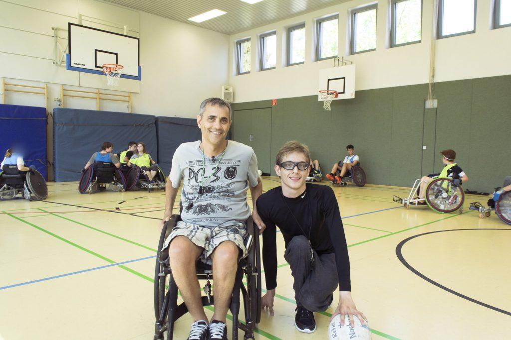 Herr Riedel und Luca Schneider vom RSC Frankfurt führten das Training durch