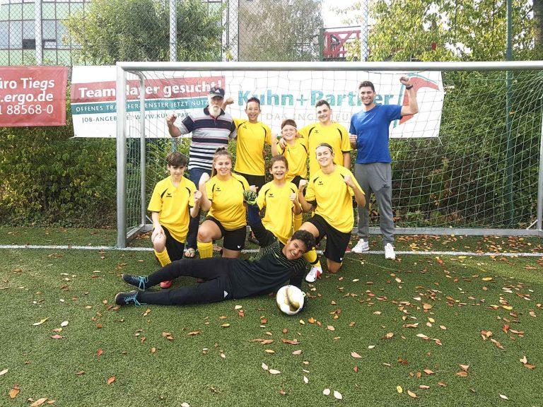 Die Fußballmannschaft der Johannes-Vatter-Schule beim Deutschland-Cup 2018