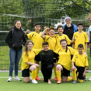 Die Fußballmannschaft der Johannes-Vatter-Schule erreichte einen 7. Platz beim Qualiturnier für den Deutschland-Cup.
