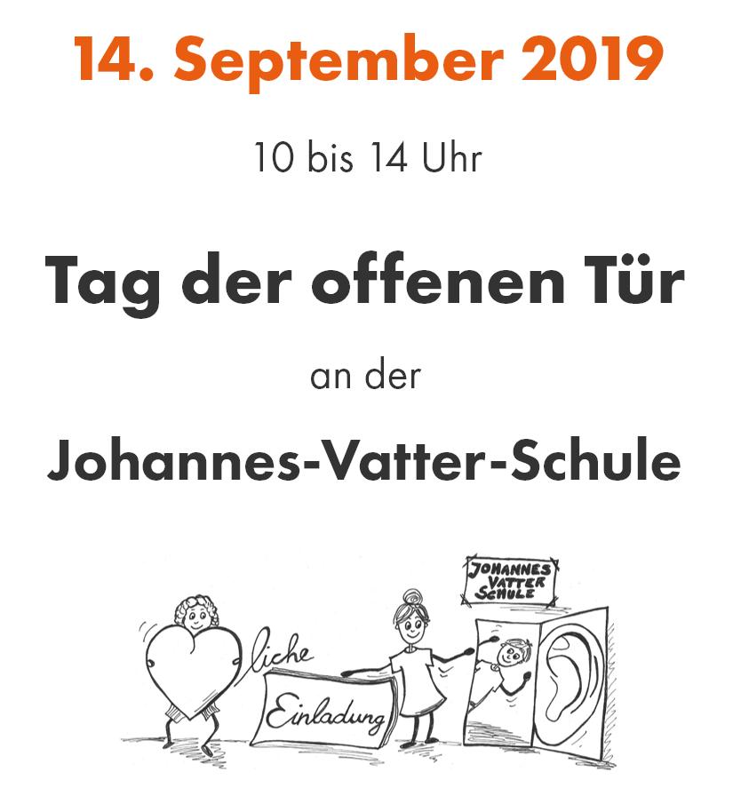 14. September 2019 10 bis 14 Uhr: Tag der offenen Tür an der Johannes-Vatter-Schule